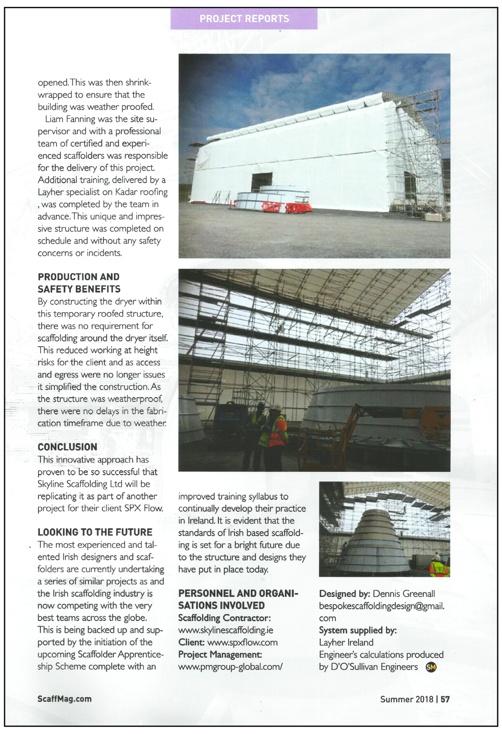 Skyline Scaffolding article ScaffMag 2018 page 2